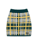 5252 바이 오아이오아이(5252BYOIOI) CHECK BOUCLE KNIT SKIRT_green