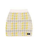 5252 바이 오아이오아이(5252BYOIOI) CHECK BOUCLE KNIT SKIRT_yellow