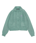 5252 바이 오아이오아이() TWIST KNIT COLLAR CROP CARDIGAN_mint
