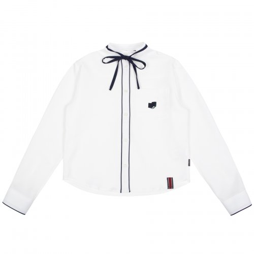 로맨틱크라운(ROMANTIC CROWN) COLLAR RIBBON SHIRT_WHITE
