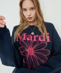 마르디 메크르디(MARDI MERCREDI) SWEATSHIRT THE FLOWER MARDI NAVY-VIOLET