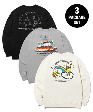 그루브라임(GROOVE RHYME) [패키지] 9TH ANNIVERSARY 3PACK SWEAT SHIRTS EDITION