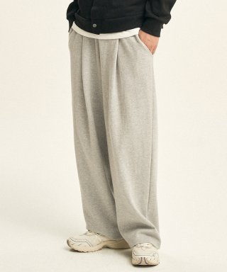 제로(XERO) Deep One Tuck Sweat Pants [Grey]