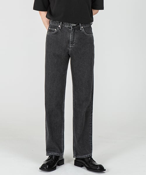 브랜디드(BRANDED) 1967 JET BLACK JEANS [WIDE STRAIGHT]