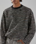 메종미네드(MAISON MINED) MIXED BOUCLE KNIT LONG SLEEVE MULTI