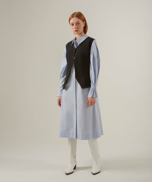언노말(UNORMAL) VOLUME DRESS_BLUE