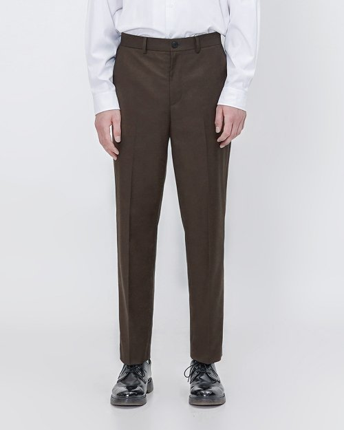 비슬로우(BESLOW) [스탠다드]20FW STANDARD SLACKS BROWN