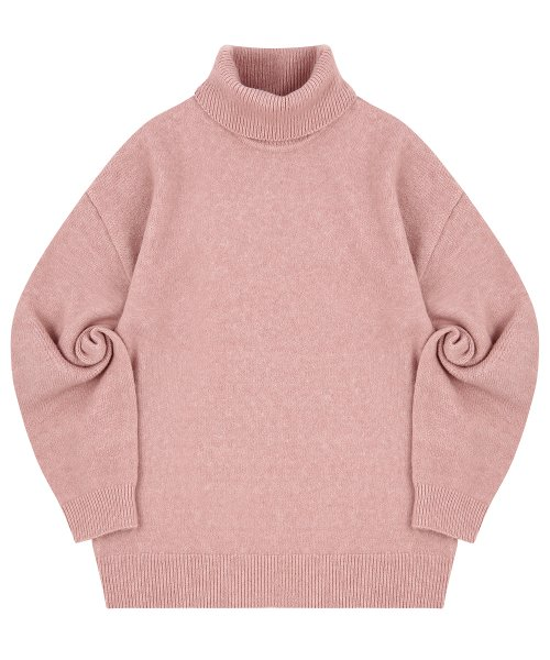 블론드나인(BLOND9) MELANGE TURTLE NECK SWEATER_PINK