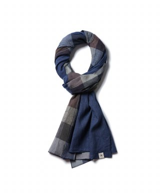 라모랭(RAMOLIN) Light Short Stole 2-Way Indigo Sky