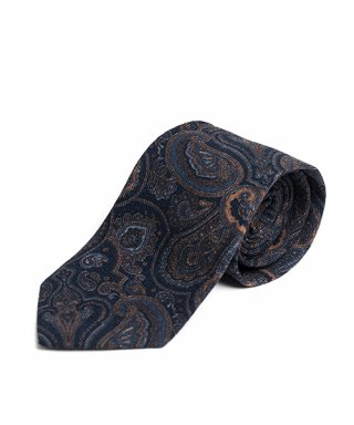 와일드 브릭스(WILD BRICKS) BP PAISLEY WOOL TIE (navy)