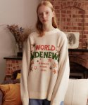 메인부스(MAINBOOTH) World Wide Oversized Sweater(BEIGE)