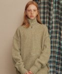메인부스(MAINBOOTH) Color Mix Turtleneck(KHAKI)
