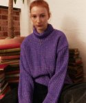 메인부스(MAINBOOTH) Color Mix Turtleneck(PURPLE)