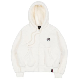 로맨틱크라운(ROMANTIC CROWN) WOMANS FLEECE HOODIE ZIP UP_OATMEAL