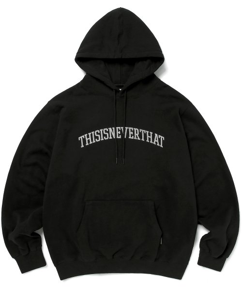 디스이즈네버댓(THISISNEVERTHAT) ARC-Logo hooded Sweatshirt Black