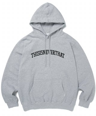 디스이즈네버댓(THISISNEVERTHAT) ARC-Logo hooded Sweatshirt Grey