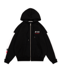 5252 바이 오아이오아이(5252BYOIOI) AUTHENTIC LOGO HOOD ZIPUP_black