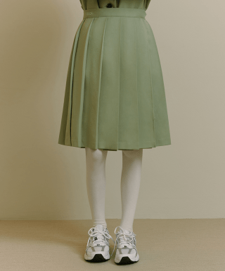 오아이오아이(OiOi) PLEATS WRAP SKIRT [MINT]