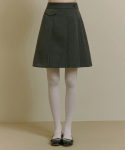 오아이오아이(OiOi) POCKET POINT PLEATS SKIRT [GREY]