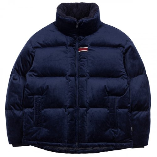 로맨틱크라운(ROMANTIC CROWN) VELVET DUCK DOWN PARKA_DARK BLUE