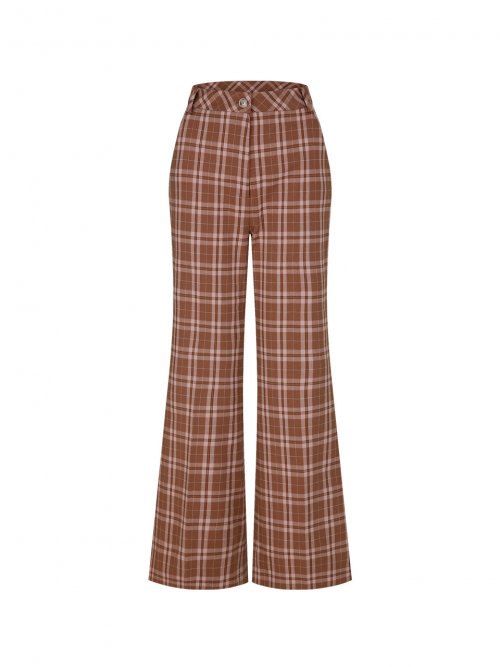 마가린핑거스(MARGARIN FINGERS) cocoa check pants