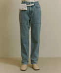 오아이오아이() BAG POINT DENIM PANTS [BLUE]