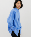 발루트(BALLUTE) MORA BUTTON DOWN SHIRTS WHALES BLUE