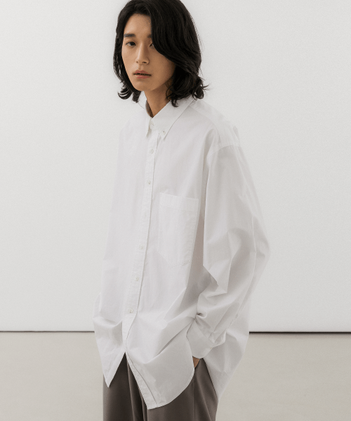 발루트(BALLUTE) MORA BUTTON DOWN SHIRTS WHITE
