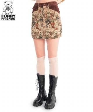 스컬프터(SCULPTOR) Furry Friends Carpet  Skirt [TEDDY BEAR FRIEND]
