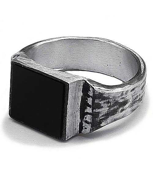 흑야(HEUKYA) square onyx ring