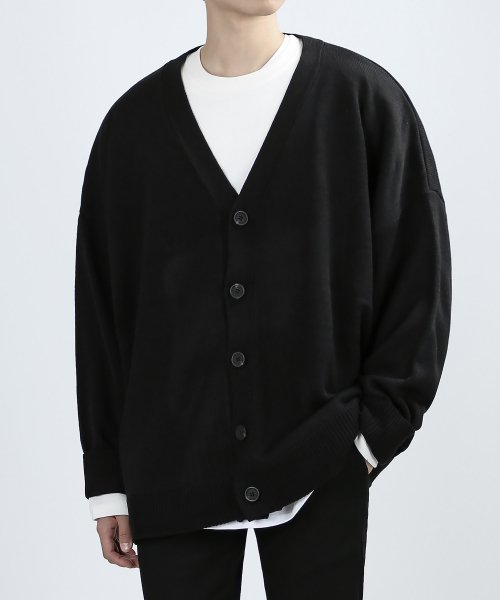베리베인(VERYVAIN) OVERING SMART CARDIGAN (BLACK)