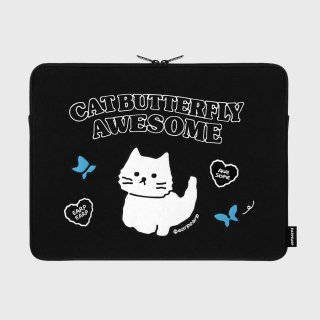 어프어프(EARPEARP) Awesome cat-black-15inch notebook pouch(15인치 노트북 파우치)