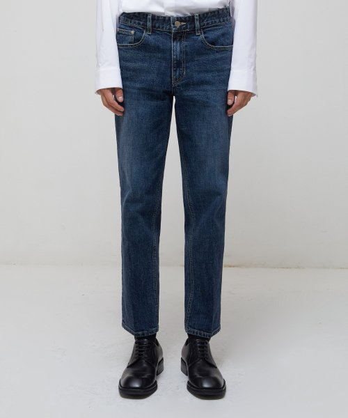 가먼트레이블(GARMENT LABLE) GL Tapered Crop Jeans - D/Indigo