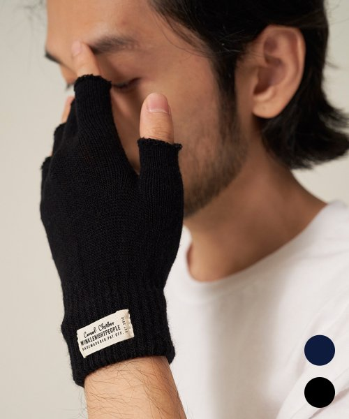 티엔피(TNP) T204AACU61_WH LABEL FINGERLESS GLOVES