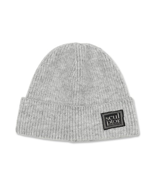 스컬프터(SCULPTOR) Labeled Knit Beanie [MELANGE GRAY]