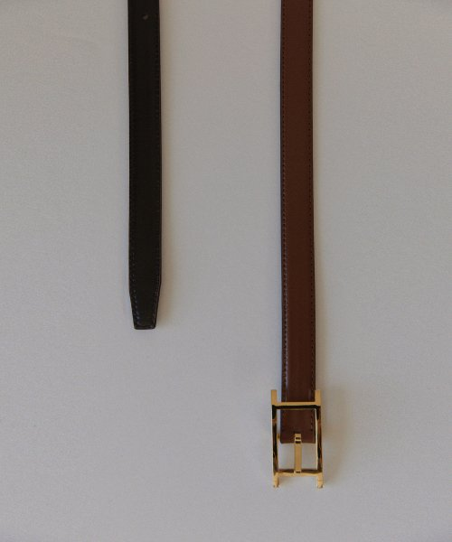 르누이(LENUÉE) Reversible Classic H leather belt