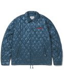 디스이즈네버댓(THISISNEVERTHAT) Quilted Coach Jacket Blue Green