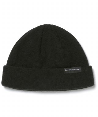 디스이즈네버댓(THISISNEVERTHAT) SP-Logo Short Beanie Black