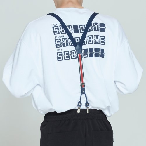 로맨틱크라운(ROMANTIC CROWN) CEREMONY TAPE SUSPENDER_NAVY