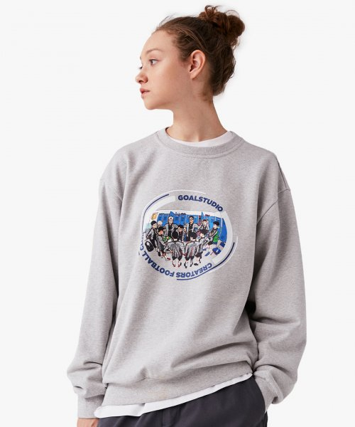 골스튜디오(GOALSTUDIO) CFC TEAM GRAPHIC SWEATSHIRT - GREY