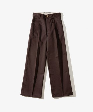 유니버셜 오버롤(UNIVERSAL OVERALL) WOMENS WIDE PANTS DARK BROWN
