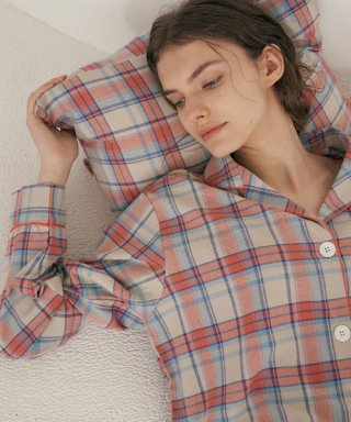 조스라운지(JOSLOUNGE) (w) Coral Plaid Pajama Set