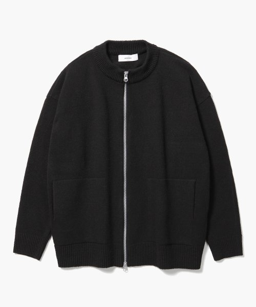 제로(XERO) 2way Round Neck Cardigan [Black]