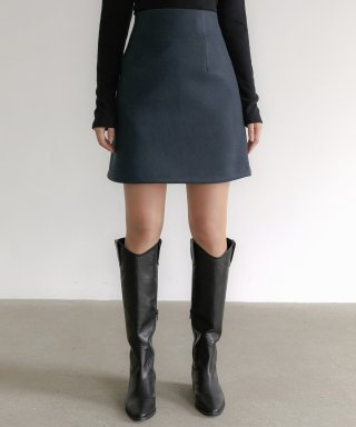 리올그(REORG) FLU MINI-SKIRT PRUSSIAN BLUE
