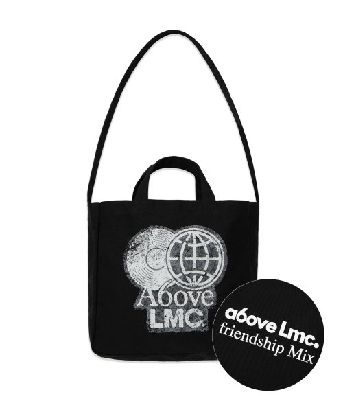 엘엠씨(LMC) LMC X A6OVE FRIENDSHIP MIX CANVAS ECO BAG black