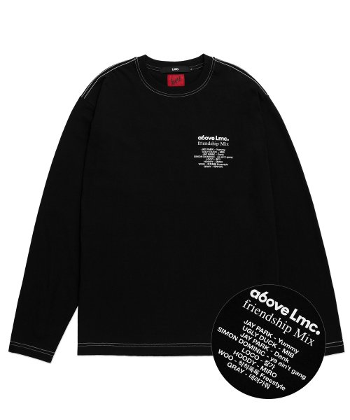 엘엠씨(LMC) LMC X A6OVE FRIENDSHIP MIX LONG SLV TEE black