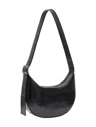레이브(RAIVE) Round Belt Strap Bag in Black VX1SG511-10