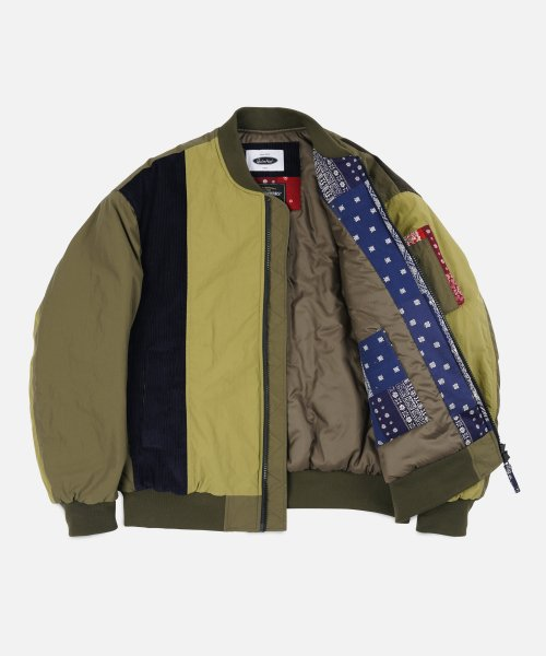 프리즘웍스(FRIZMWORKS) [FWS X QUIETIST] UNION MA-1 FLIGHT JACKET _ OLIVE