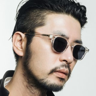 애쉬컴팩트(ASH COMPACT) Tar Sunglasses - Clear (Smoke Black Lens)