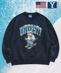 예일(YALE) [WINTER LIMITED] SKIING HANDSOME DAN CREWNECK NAVY